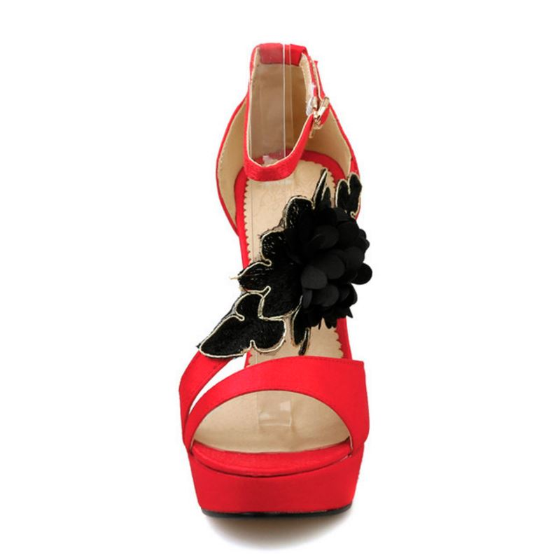 Clásicos rojo Y Limita Verano Talón Negro Mujeres Alto Haoshen Sexy De Del Negro Chica Las Rojo Sandalias Tacones Plataforma Zapatos ZdqHWwF