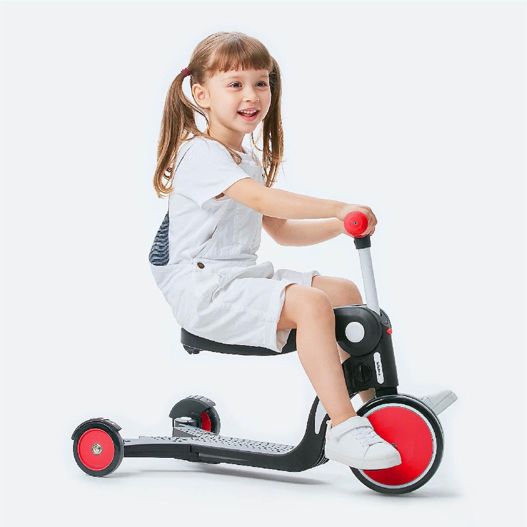 Enfants trois roues Balance vélo Scooter bébé marcheur 2-6 ans 5 en 1 multi-fonction Tricycle tour voiture jouet - 2