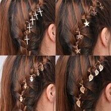 Модная Винтажная заколка для волос зажим очаровательный лист