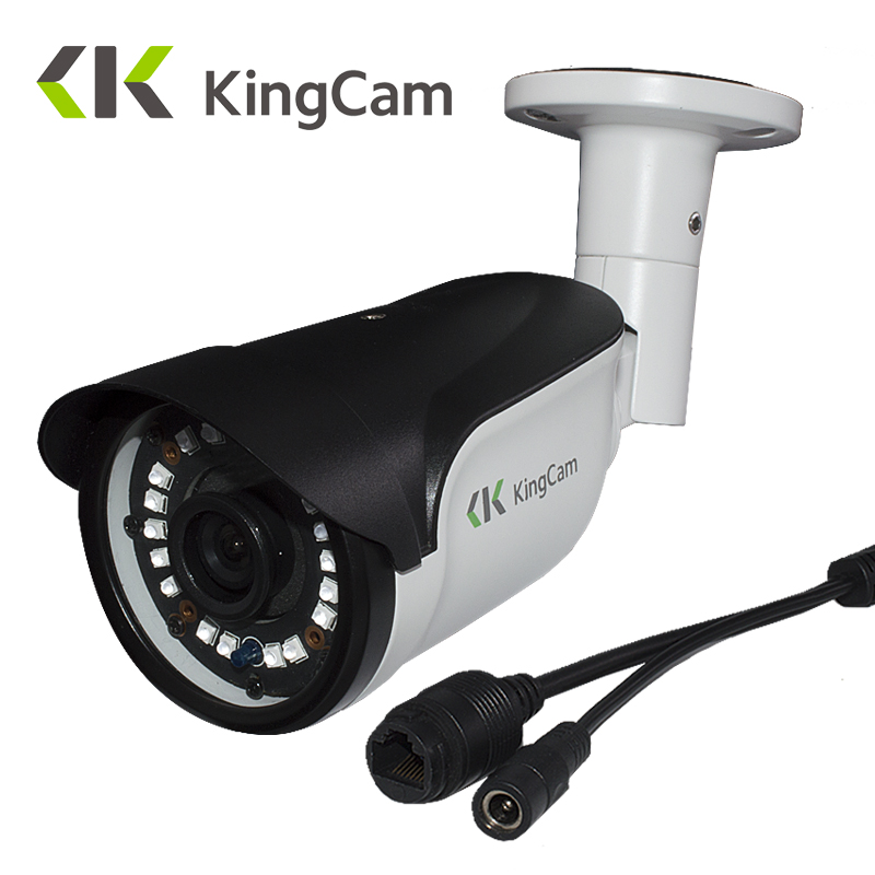 KingCam Metal Laser IR LED 4MP Security 48V POE IP Camera 48V font b Outdoor b