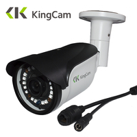 KingCam FHD 1080P POE Zinc Alloy Metal Anti Vandal Outdoor Indoor IP Camera IP66 With ONVIF