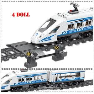 Image 5 - RC teknik şehir demiryolu yapı taşları uzaktan kontrol istasyonu demiryolu tren Enlighten tuğla oyuncaklar çocuklar için noel hediyeleri