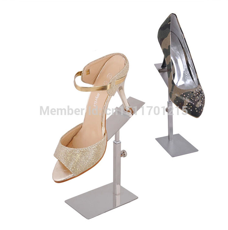 Free Shipping  Silver Metal Shoe Display Rack Sandals&Shoe Display Stand Holder 10pcs 5pcs android tv box tvip 410 412 box amlogic quad core 4gb android linux dual os smart tv box support h 265 airplay dlna 250 254