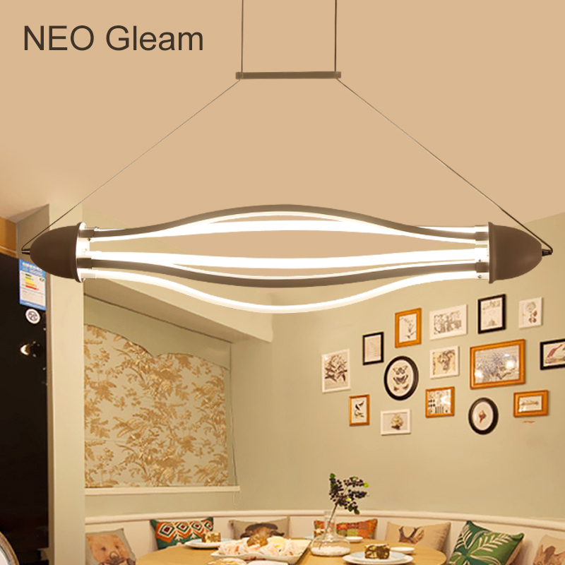 NEO Gleam New Arrival Aluminum Modern led Pendant Light for Kitchen Dining Living Room suspension luminaire Hanging Pendant Lamp free shipping new arrival 35pcs pack 2m pcs led aluminum profile for led strips with milky or transparent cover and accessories
