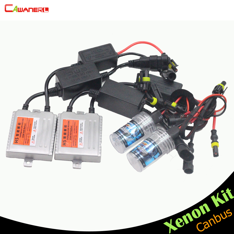 Cawanerl H7 55W HID Xenon Kit Canbus No Error Ballast Bulb AC 3000K-15000K Car Headlight Fog Lamp Daytime Running Light DRL