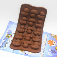 14 cavity duck shape Silicone chocolate mold Fondant sugar mold decoration cake mould baking moldFree shipping
