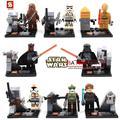 80 Unids SY198 STAR WAR con LightsaberDarth Vader/C3PO Marvel figuras de acción ladrillos niños del bebé juguetes de los niños