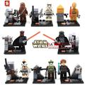 80Pcs SY198  STAR WAR with LightsaberDarth Vader/C3PO Marvel   action figure bricks baby children kids toys