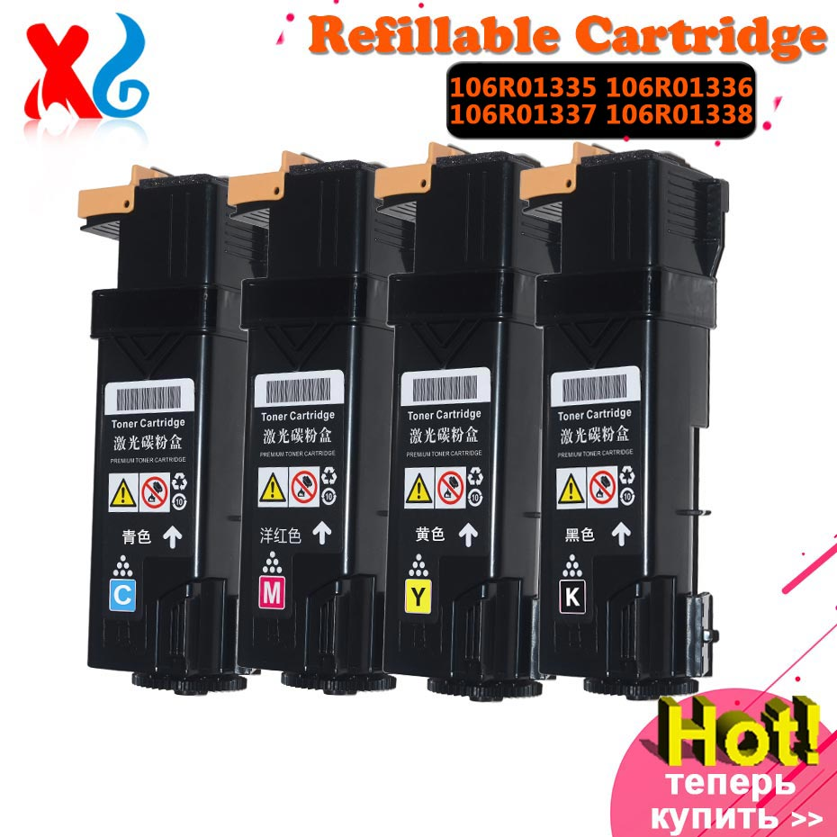 1Set 106R01335 106R01336 106R01337 106R01338 Color Compatible Toner Cartridge Replacement For Xerox Phaser C 6125 Laser