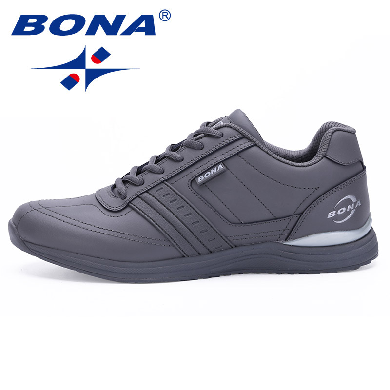 BONA New Popular Style Men Casual Shoes Lace Up Comfortable Shoes Men Soft Lightweight Outsole Hombre  Free  Shipping 2