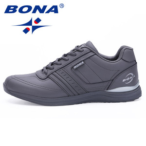 Image 2 - BONA New Popular Style Men Casual Shoes Lace Up Comfortable Shoes Men Soft Lightweight Outsole Hombre  Free  Shipping