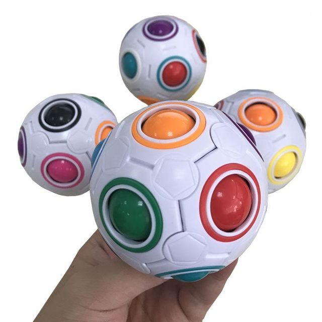 Us 2 69 27 Off 2017 1 Stuck Regenbogen Fussball Kreativen Kinder Kinder Spharische Block Spielzeug Lernen Und Bildung Spielzeug Fur Kinder Heisser