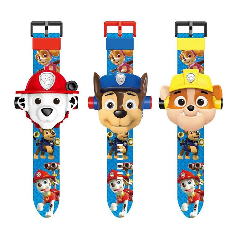 Pata pata patrulha patrulha brinquedos conjunto relógio de Projeção action figure presente de aniversário anime figura brinquedo pata patrulha canina Patrulha