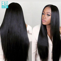 Pre Plucked Full Lace Human Hair Wigs With Baby Hair Brazilian Remy Hair Lace Wig For Black Women Black & Brown Color Available