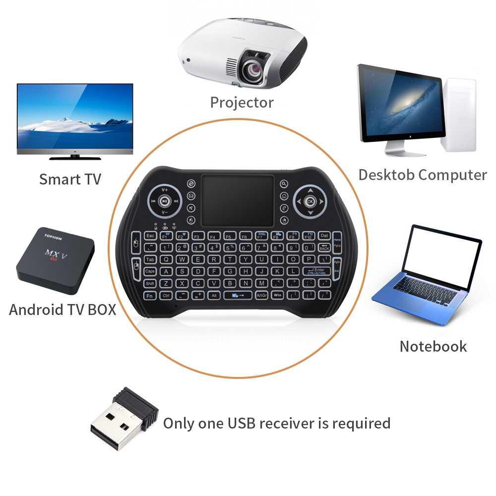 MT10 Арабская мини беспроводная клавиатура 2,4G сенсорная панель с подсветкой Air Поддержка мыши Android для Android Smart tv Box обновленная I8 D8