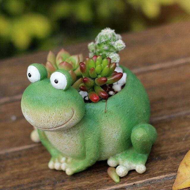 Glück reichen Frosch blumentöpfe pflanz hause dekoration maceta blumentopf de fleur DIY bonsai topf desktop vasi glück geschenk