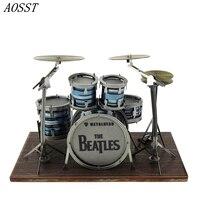 AOSST 3D Metal Puzzles Laser Cut Assemble DIY Models Musical Instrument Drums Jigsaws Toys New