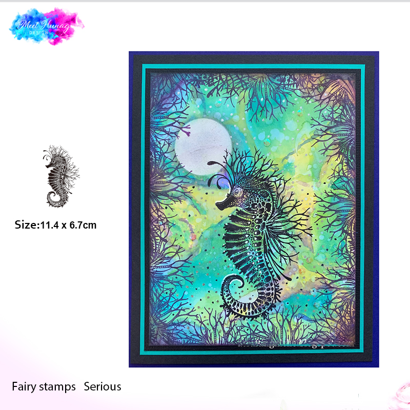 Fairy Seahorse Animals Clear Rubber Stamp Building Transparent Scrapbooking Card Making Embossing Album Craft Cut