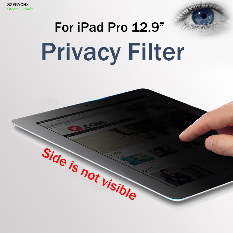 SZEGYCHX 12.9 PET materia 180 Privacy Filter Screen Anti glare Tablet PC Protector Filter Film For iPad 12.9 inch