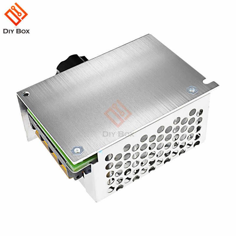 4000W 220V AC SCR מנוע מהירות בקר מודול מתח רגולטור טמפרטורת דימר עבור חשמלי תנור מים דוד LED אור