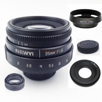 35mm F1.6 CCTV c montaje de la lente APS-C para M4/3 gf6 em5 em1 gh5 gx8 FX xt20 xt1 EOSM sony nex a7 a6500 a6300 n1 PQ de la cámara.