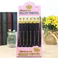 1 Lot=30pcs Korean Crown Style Blue Ink Ballpoint Pen Metal Penholder Creative Office School Writing Pen Stationery Hot Sales