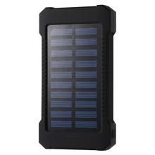 Portable Solar Power Bank 30000mah Waterproof External Battery Backup Powerbank 30000 mah Phone Battery Charger LED PoverBank цена и фото
