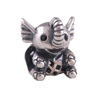Everbling Jewelry Baby Elephant 100 925 Sterling Silver Charm Bead Fits Pandora European Charms Bracelet Necklace