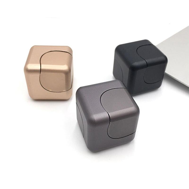 Alta Calidad Mano Finger Spinner metal Fidget Cube Modelo Aleación - Juguetes clásicos - foto 3