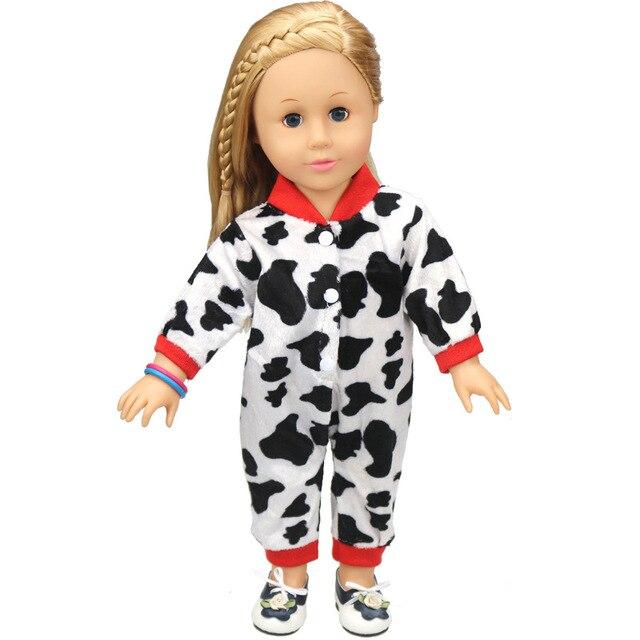 1 piezas American girl muñeca ropa de una sola pieza de vaca patrón ...