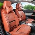 PU asiento de cuero cubre para Nissan Murano 2015 asientos de coche accesorios conjunto personalizado cómodo soporte lumbar cojín del asiento de coche