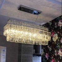 Современные кристалл Cafe светильник столовая круглые и квадратные подвесные светильники k9 кристалл Светодиодная лампа прямоугольные подве