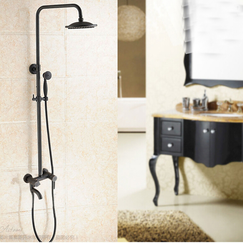 Wall Mounted Shower System Oil Rubbed Bronze Shower Sprayer Tub ...