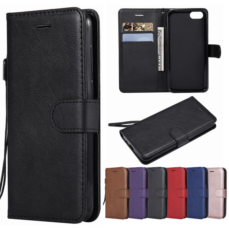"""Case For Huawei Honor 7A Case On 5.45 inch Russian Version Leather Wallet Cover For Huawei Honor 7A 5.45"""" Flip Phone Cases Coque"""