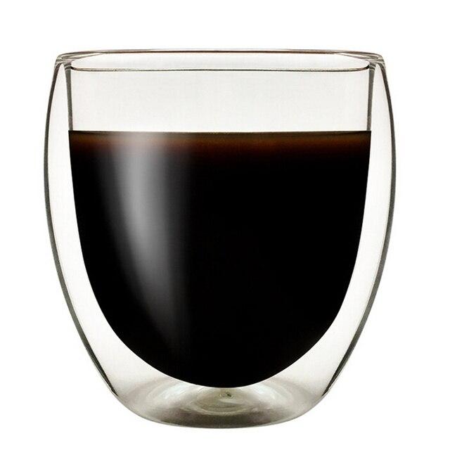 200 ml/250 ml/450 ml Resistente Al Calore A Doppia Parete Tazza di Bevanda di Ve