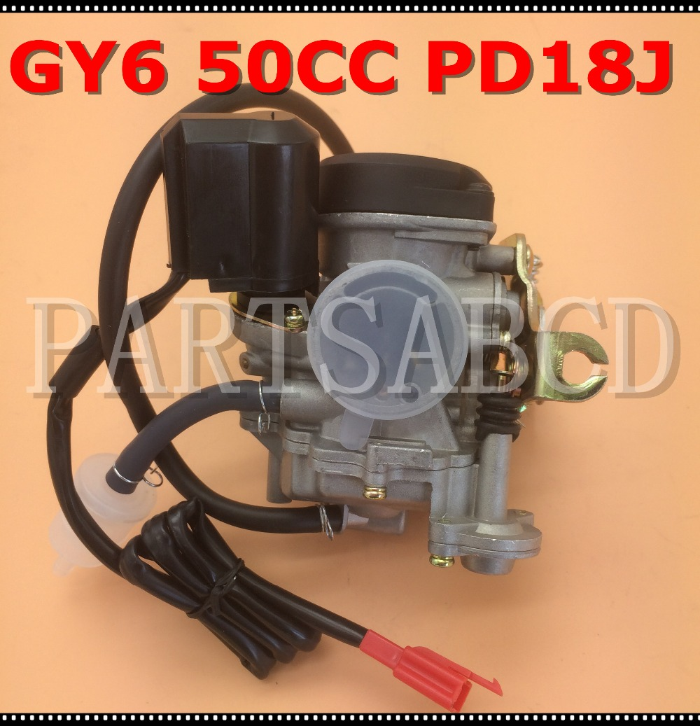 Pd18j 18mm carburetor for motorcycle gy6 50cc scooter moped pd18 engine 139qmb 139qma abm irbis baja