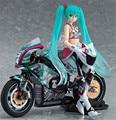 ANIME Vocaloid HATSUNE MIKU Racing Ver. y Equipo UKYO FIGURA FIGURA Modelo de La Motocicleta Nueva Caja
