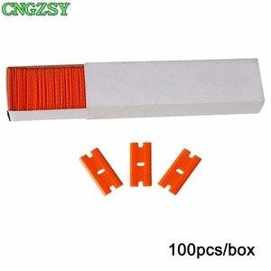Image 5 - CNGZSY raspador de pegamento para máquina de afeitar, eliminador de horno de cerámica, limpiador de vidrio para ventana, pala de hielo, pegatina de película, espátula, herramientas de limpieza de coche K04