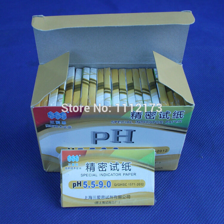 (10 Pieces/lot)Accuracy: PH 0.5, PH Range: 5.5-9.0,Accurate PH Test Paper,80 Strips Short-range PH Paper 5.5-9.0