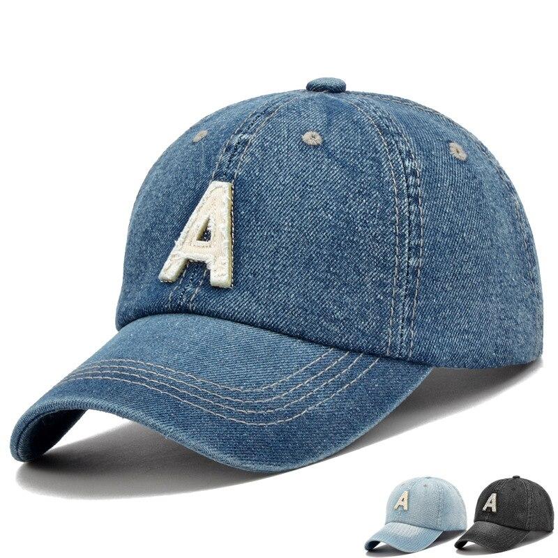0a0415ec2cb4e 2017 Brand New High Quality Baseball Caps Has   Caps Men Women Fashion A  Letter Jean