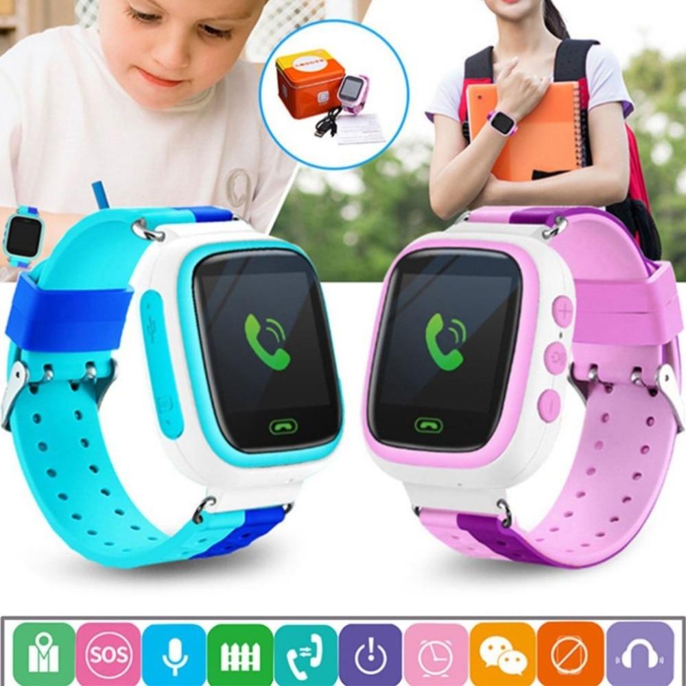 """Q80 дети GPS часы smart детские часы SOS вызова анти потерял местоположение трекера SmartWatch 1.44 """"Цвет Экран детей Часы PK Q90"""