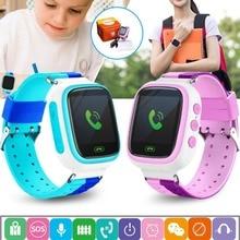 """Q80 Crianças GPS Relógio Inteligente Relógio Bebê Chamada SOS Anti Perdido Localização Rastreador Smartwatch 1.44 """"cor Crianças Relógios PK Tela Q90"""
