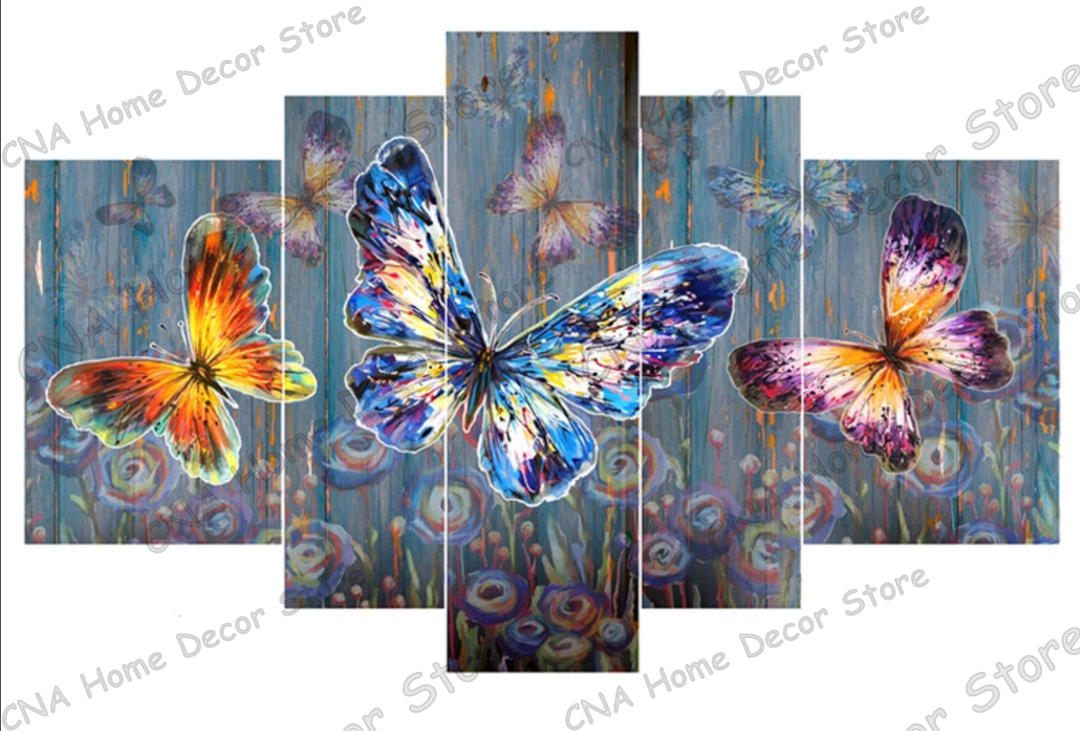 5pcs colorful butterflies full Drill 5D Diy Diamond Painting Mosaic Resin Embroidery Needlework animal 3D Cross Stitch Kits