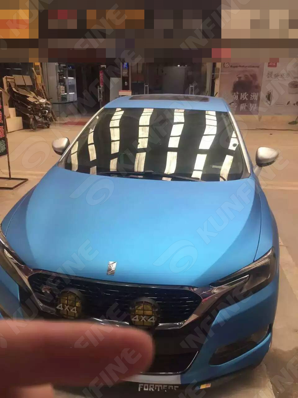 Car styling wrap electro optic golden blue car vinyl film body sticker car wrap with air free bubble for vehiche 1 5220m roll