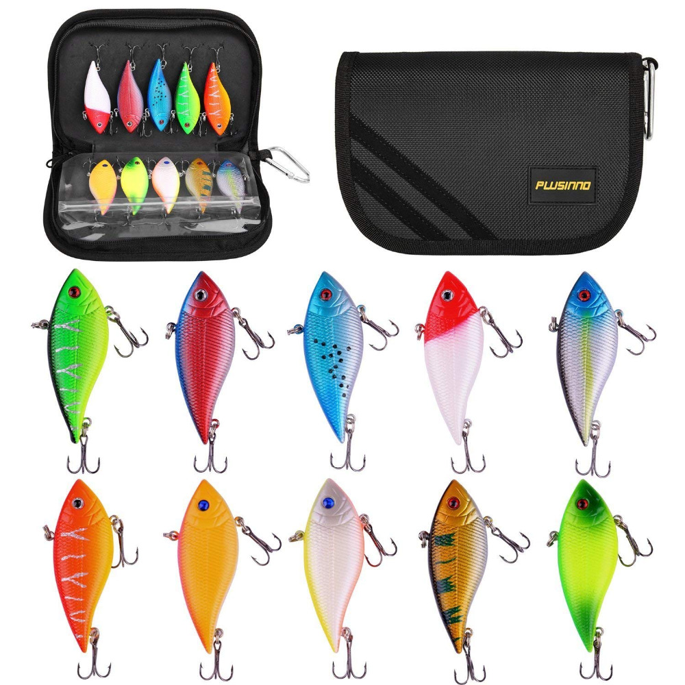 PLUSINNO 10pcs Fishing Lure Crankbait Kit  1