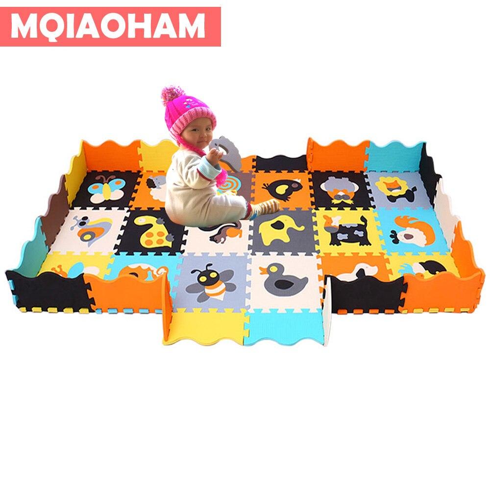 MQIAOHAM 2018 enfant bébé jouet mousse Puzzle tapis numéros tapis de sol EVA mousse Puzzle tapis de jeu bébé ramper tapis tapis doux carrelage