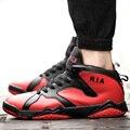 Nuevo 2016 de Alta Superior Zapatos Ocasionales de Los Hombres de Encaje Color Mezclado arriba Zapatos Entrenadores Zapatillas Superstar Mismo Estilo Jordan Deporte Basket Hombre
