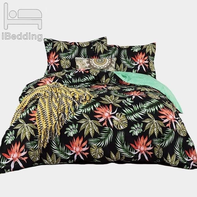 Plant flower Bedding Queen Comforter Sets 3D Adult Bed Cover Homemade Bedspread Duvet Cover Bed Linen Set  Bed Sheets