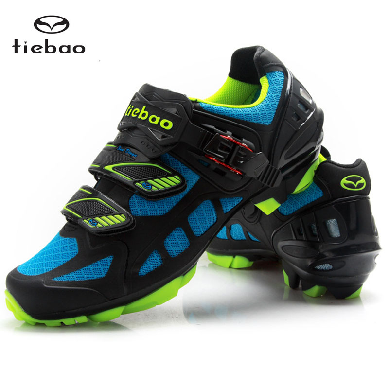 New TIEBAO MTB Cycling Shoes Professional Athletic Bicycle Sports Shoes Cleated Shoes Mountain Racing Sports Mountain Shoes
