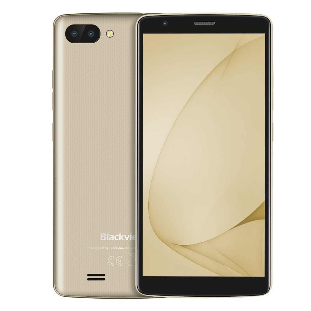 Blackview A20 Smartphone 5.5 pouces 18:9 Android Go double caméra 1GB 8GB MT6580M 5MP 3G téléphone portable